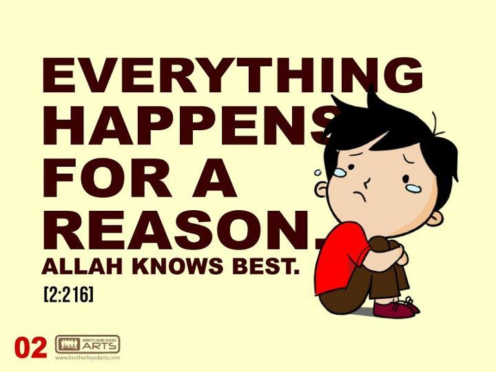 Everything happen for a reason..ALLAH knows best..it's true...