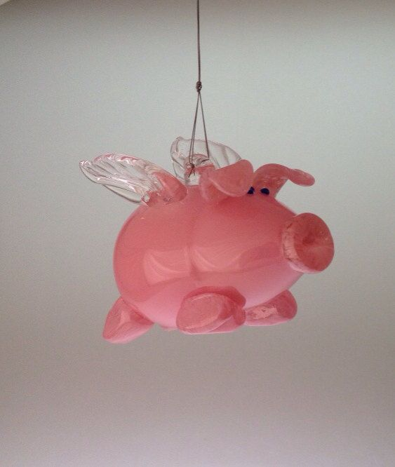 Flying Pig Blown Glass On 120 00