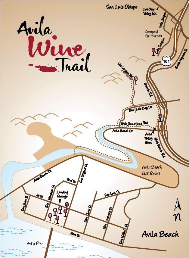 Avila Wine Tours Socal Socool In 2018 Trail Maps Beach