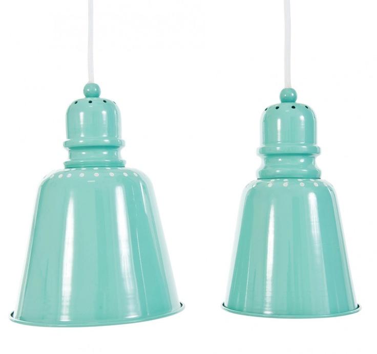 Sebra Lamp Pendants in Turquoise
