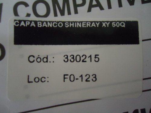 capa banco shineray xy 50q