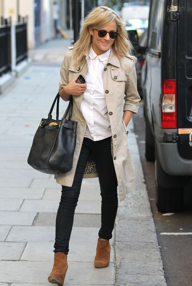 Caroline Flack cool style at Radio 1 studios