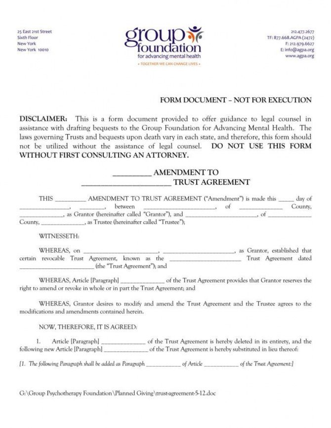 Formal Trust Agreement Template In 2020 Templates Being A