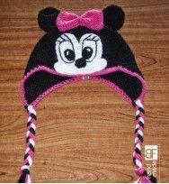Handmade crochet minnie hat