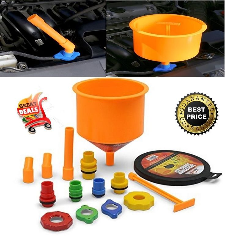 Spill Proof Funnel Kit Radiator Coolant Filling Spill Free Cooling System Funnel #EPAuto