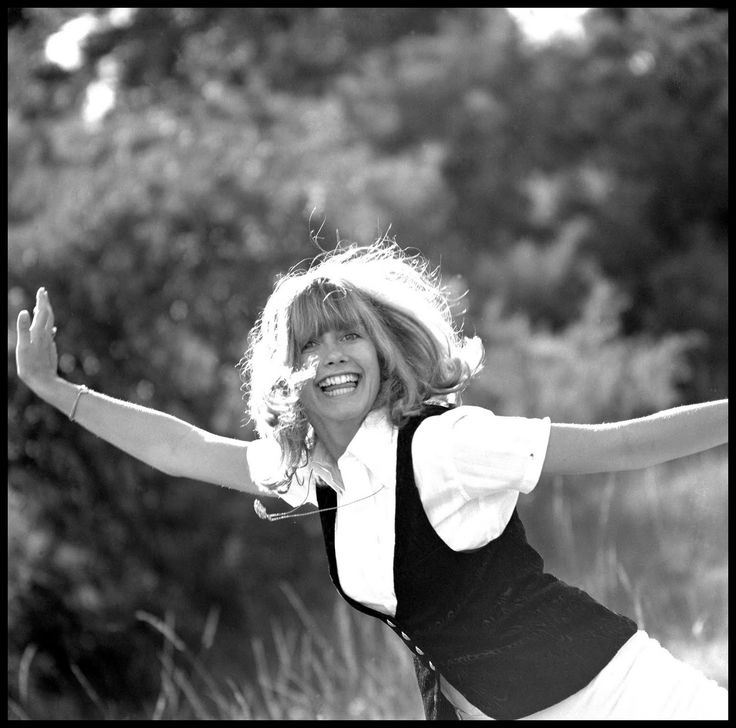 Olivia Newton John, photographed for the book 'Made in Australia' pages 12 and 13 of the book. Photographed in Centennial Park. David Mist, Sydney, 1969.