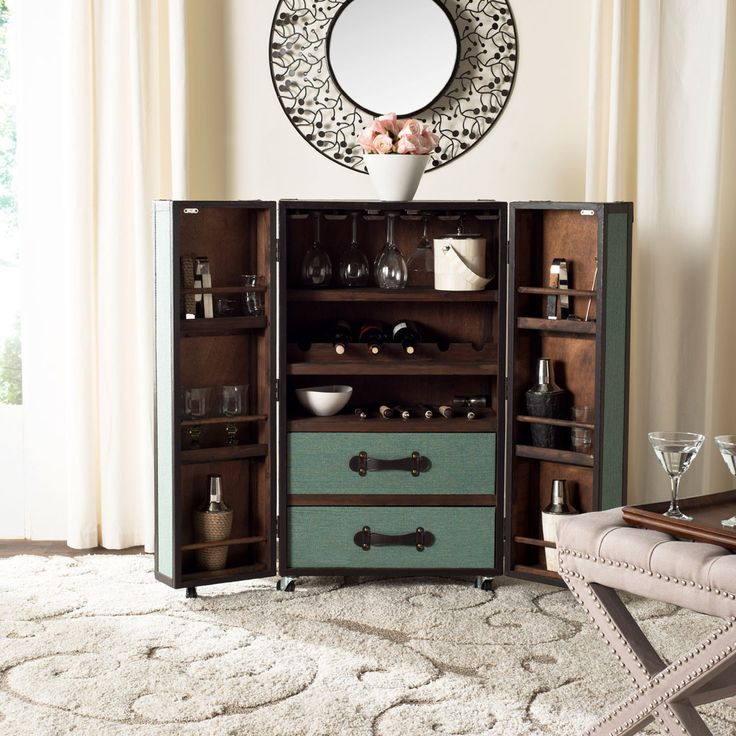 bar trunk furniture. steamer trunk bar cabinet in sage dot u0026 bo furniture 2