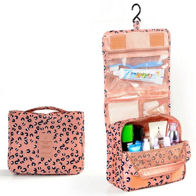 Necessaire de poliéster impressão senhoras bolsa de cosméticos maquiagem organizador malas de viagem das mulheres do sexo feminino pequena lavagem bolsas para as meninas