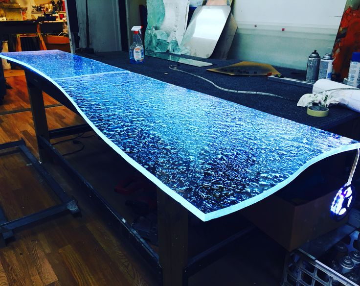 Custom Textured Glass With LED Lights, Glass Countertops In Chicago By  Ultimate Glass Art,