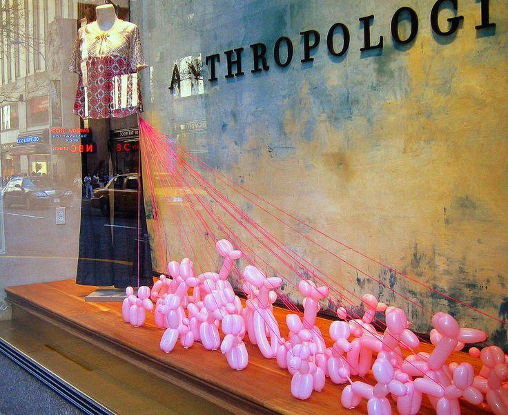 anthropologie window displays -- poodles!!     i love poodles. oodles and oodles of poodles ;)