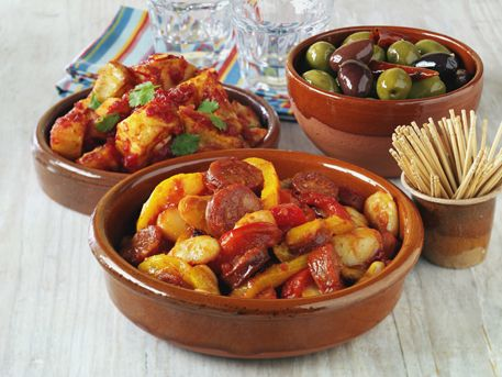 Butter bean and Chorizo Tapas with Tracklements Spicy Tomato Sauce #Tracklements #Tapas #Chorizo