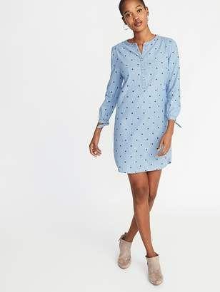 4e24c018a30 Old Navy Tencel® Tie-Cuff Shirt Dress for Women | Fashion blog ideas ...