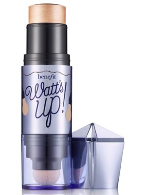 "Benefit Watt's Up Highlighter.  This gives you ""skinny face"" and makes your cheekbones look sky high!"