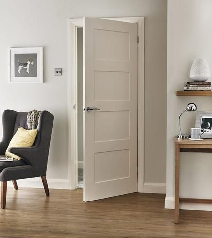This 4 Panel Shaker smooth internal moulded door has a simple design that would suit both contemporary and traditional interiors. & 25+ best ideas about Interior doors on Pinterest | Interior door ... Pezcame.Com