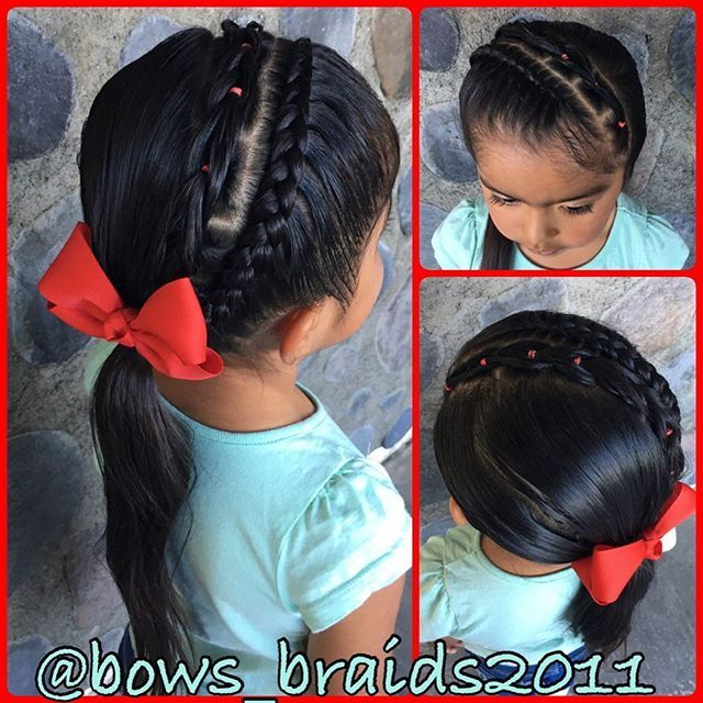 Top 100 little girl hairstyles photos I started with a diagonal Dutch lace braid adding a pull through braid next to it and pulled it all into a side pony. 👧🏻👑 #peinadosparaniñas #peinados #bows_braids2011 #peinadosbonitos #peinadosfaciles#toddlerhairstyles #littlegirlhair #littlegirlhairstyles #peinadosdeniñas See more http://wumann.com/top-100-little-girl-hairstyles-photos/