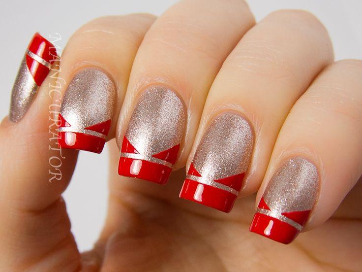 simplenailarttipscom taping nail art design ideas manicurator pomegranate - Nail Art Design Ideas
