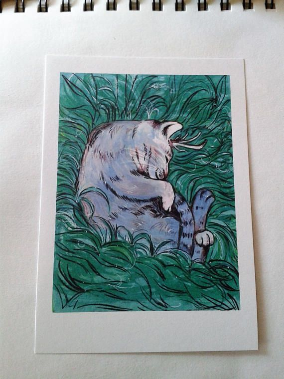 Sleeping Cat Creature Cat Lover Gift