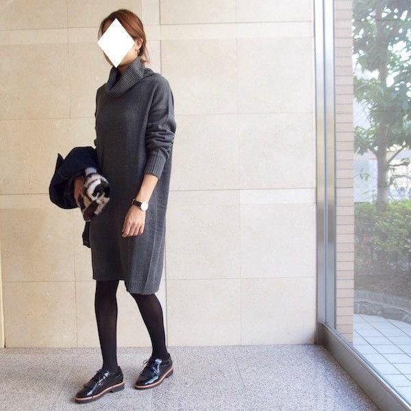 ◆UNIQLOデニムJK×ニットワンピ◆雨でもOKオジ靴コーデ♪|LIFE IS SWEET by SioAi<プチプラシンプルコーデ日記>