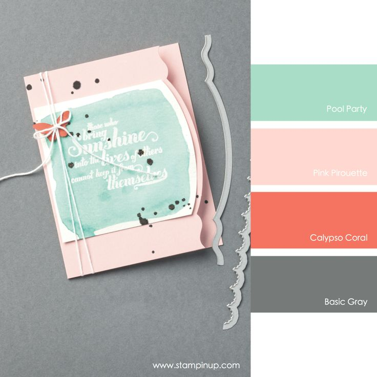 Pool Party, Pink Pirouette, Calypso Coral, Basic Gray #stampinupcolorcombos