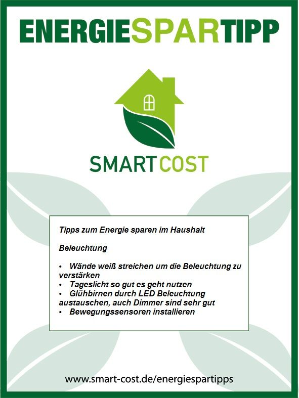 Heute gibt es wieder unseren Energiespartipp der Woche. Hier gibt es weitere Energiespartipps für Zuhause:  https://www.smart-cost.de/energiespartipps/zu-hause-energie-sparen/
