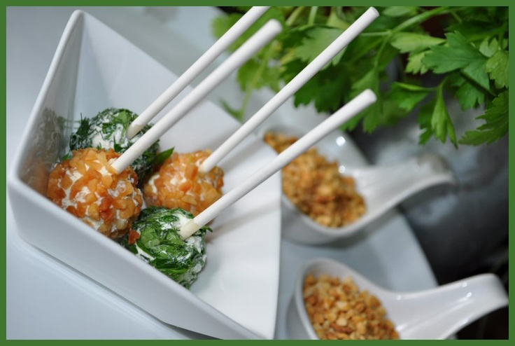Philadelphia cream cheese balls with nuts and herbs