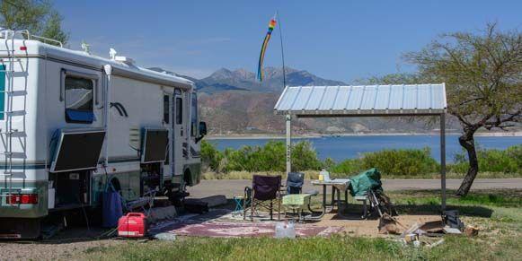 Roosevelt Lake Lakeside Camping Phoenix Az Arizona