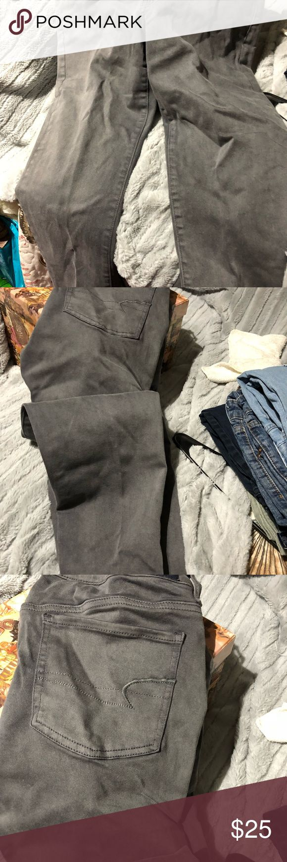 American Eagle Outfitters Very soft, grey, comfortable jeans American Eagle Outfitters Jeans Straight Leg