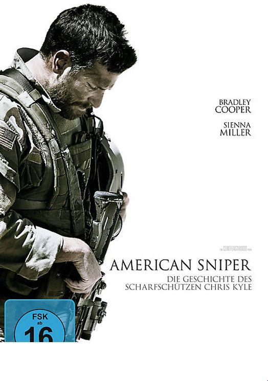 Clint Eastwood verfilmte die Autobiographie von Chris Kyle, dem tödlichsten Scharfschützen der US-Armee-Geschichte! #dvd #film #americansniper #bradleycooper #weltbild