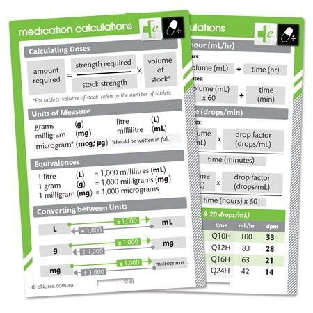 eNurse Dosage and Calculations Card