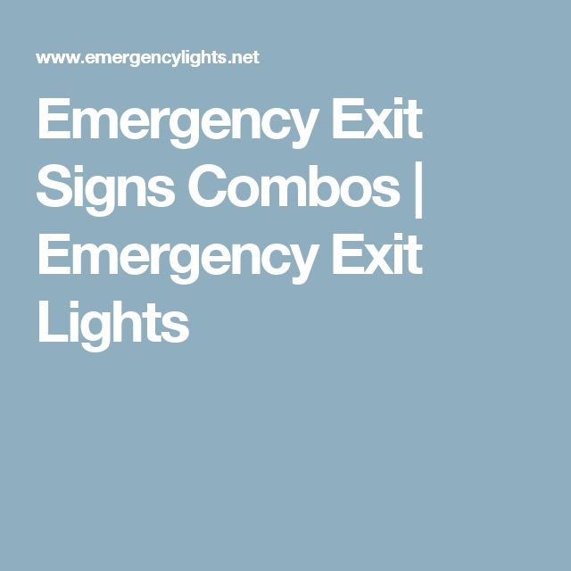 Lithonia Emergency Egress Lighting: Best 25+ Emergency Exit Signs Ideas On Pinterest