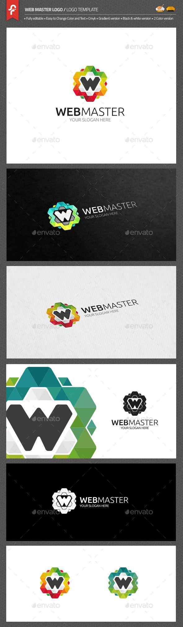 Web Master Logo — AI Illustrator #software #w symbol • Available here → https://graphicriver.net/item/web-master-logo/10607112?ref=pxcr