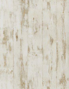 Papier peint BOIS, vinyle sur intissé imitation bois vieilli, beige | Saint Maclou