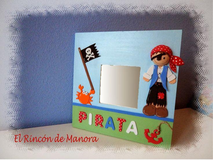 Cuadro de pirata en gomaeva con letrero