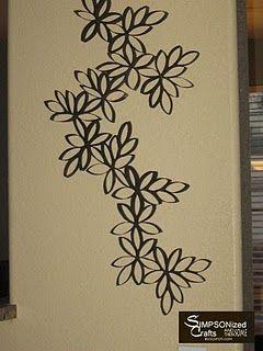 Toilet paper roll decor