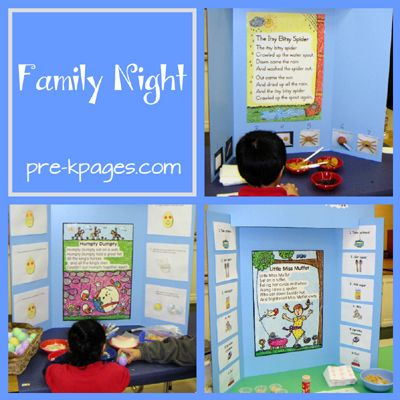 Family Literacy Night Nursery Rhyme ideas via www.pre-kpages.com