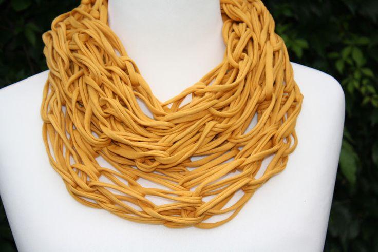 Weiteres - Loop Schlauchschal safran curry gelb Schal - ein Designerstück von trixies-zauberhafte-Welten bei DaWanda