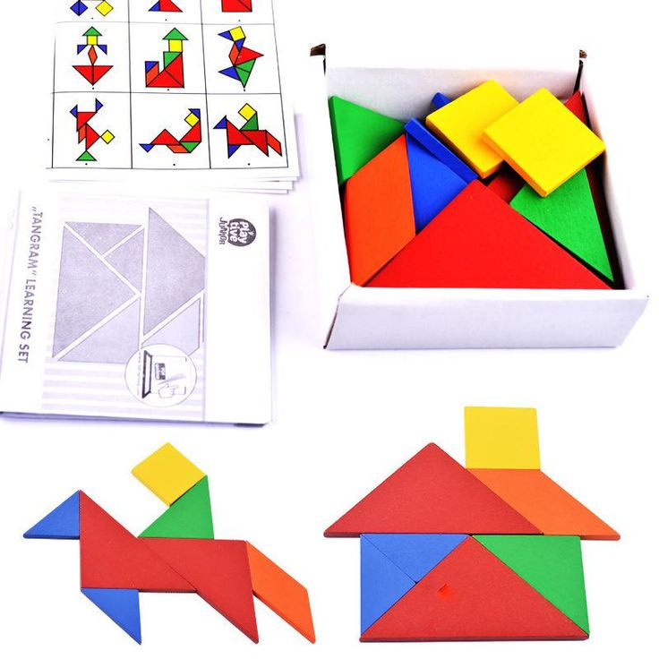 Tangram para desarrollar el conocimiento de las figuras geométricas mediante su manipulación.