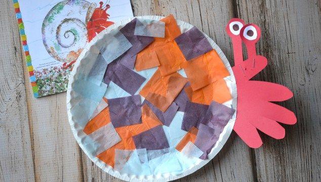 Paper Plate Hermit Crab {Kid Craft}