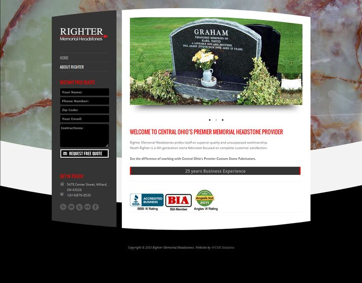 Righter Memorial Headstones is an extension of Righter Granite and Marble, an industry leader in granite and marble fabrication with more than 10,000 jobs made over the decades of custom work with high standards. We now offer the very best headstones, including traditional styles and contemporary designs for single memorials or companions. goo.gl/LWfemY