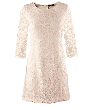 H&M Lace Dress...add teal, coral, or yellow accessories to make it pop!