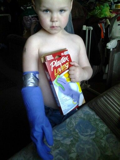 So my 4 year old broke his arm, and instead of using a bread bag I with help from my cousin came up with this brilliant idea to use Playtex gloves pull it up over the cast,tape shut and you get a water proof, hard to get holes in cover that they still can easily play in the water with.