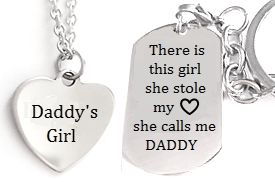 Dad & Daughter Personalized Necklace & Keyring from www.charisjewelry.co.za