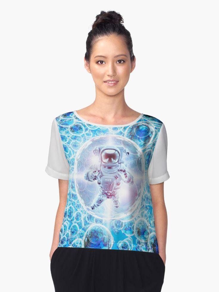 Illustration 3D des Astronauten schwimmend unter helle glühende galaktische Bereiche. • Also buy this artwork on apparel, stickers, phone cases und more.