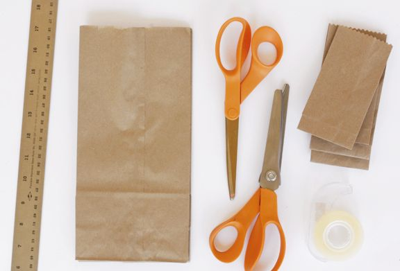 how to make paper mini sacks from regular sized paper sacks