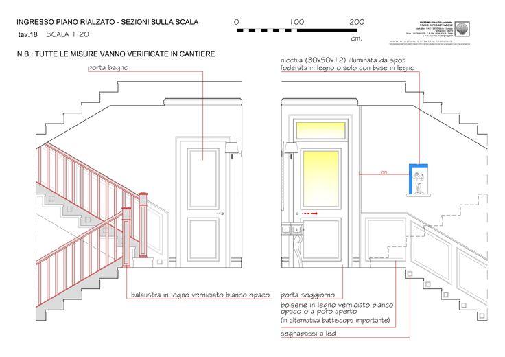 entrance and stairs elevation - level 0  - Massimo Rinaldo architetto