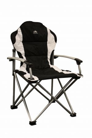 Full range of chairs, tables and camping equipment at Awnings Direct. This Super Deluxe steel armchair by Sunncamp for only 38.99