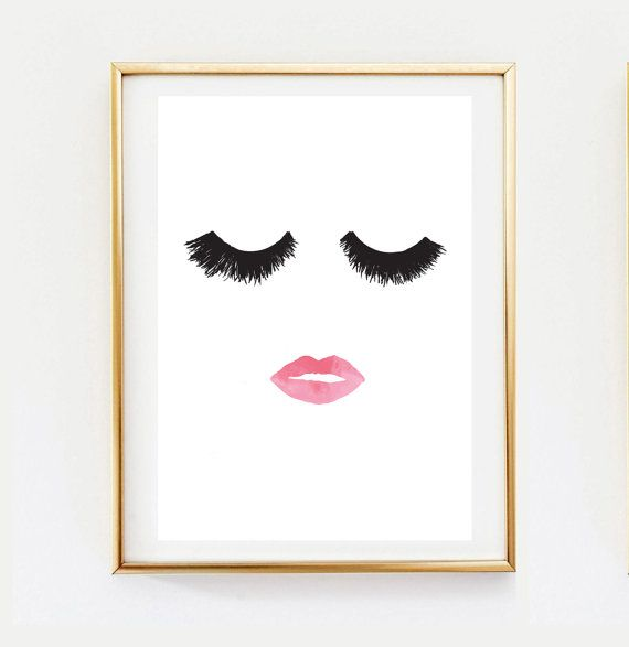 Makeup Print Wall Decor Home Decor Wall Art by LovelyPosters