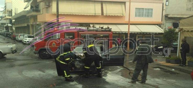 Κρήτη: Αυτοκίνητο «λαμπάδιασε»... εν κινήσει