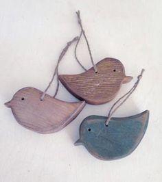ornements oiseaux sapin