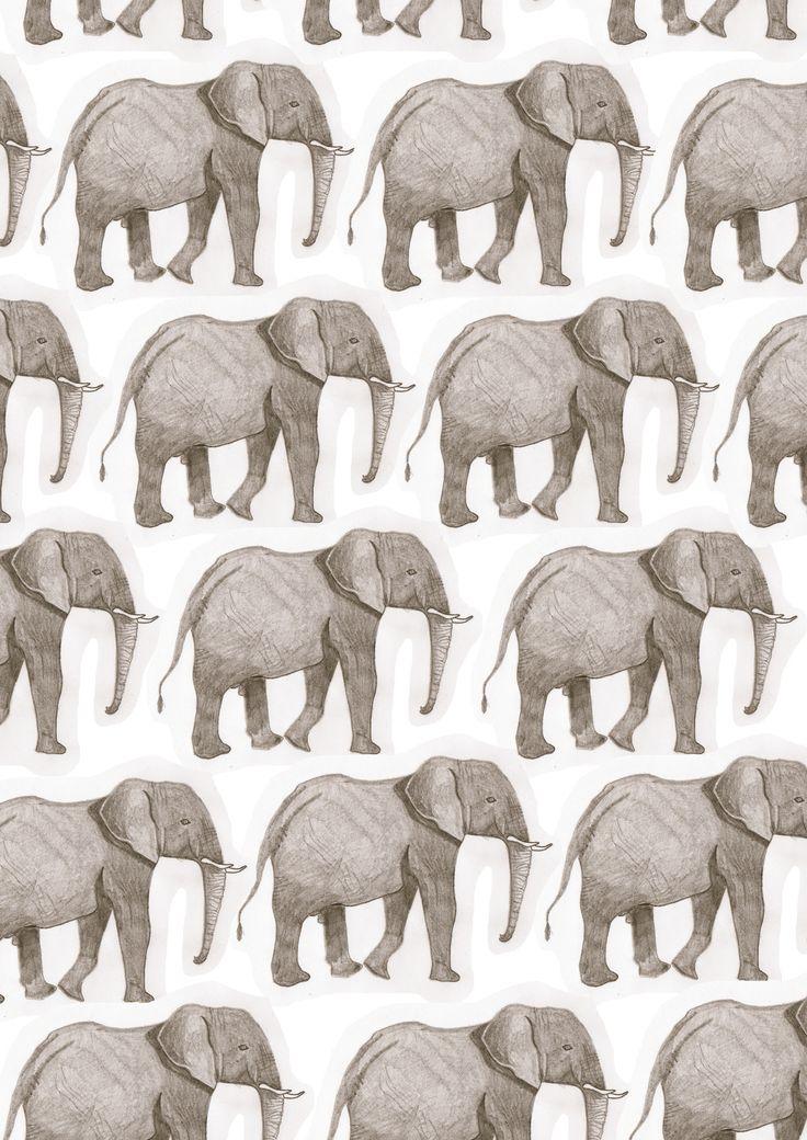 doodoodloo:    I used an illustration I did in year 12 to make elephant wallpaper! Woohoo!  DOODLES